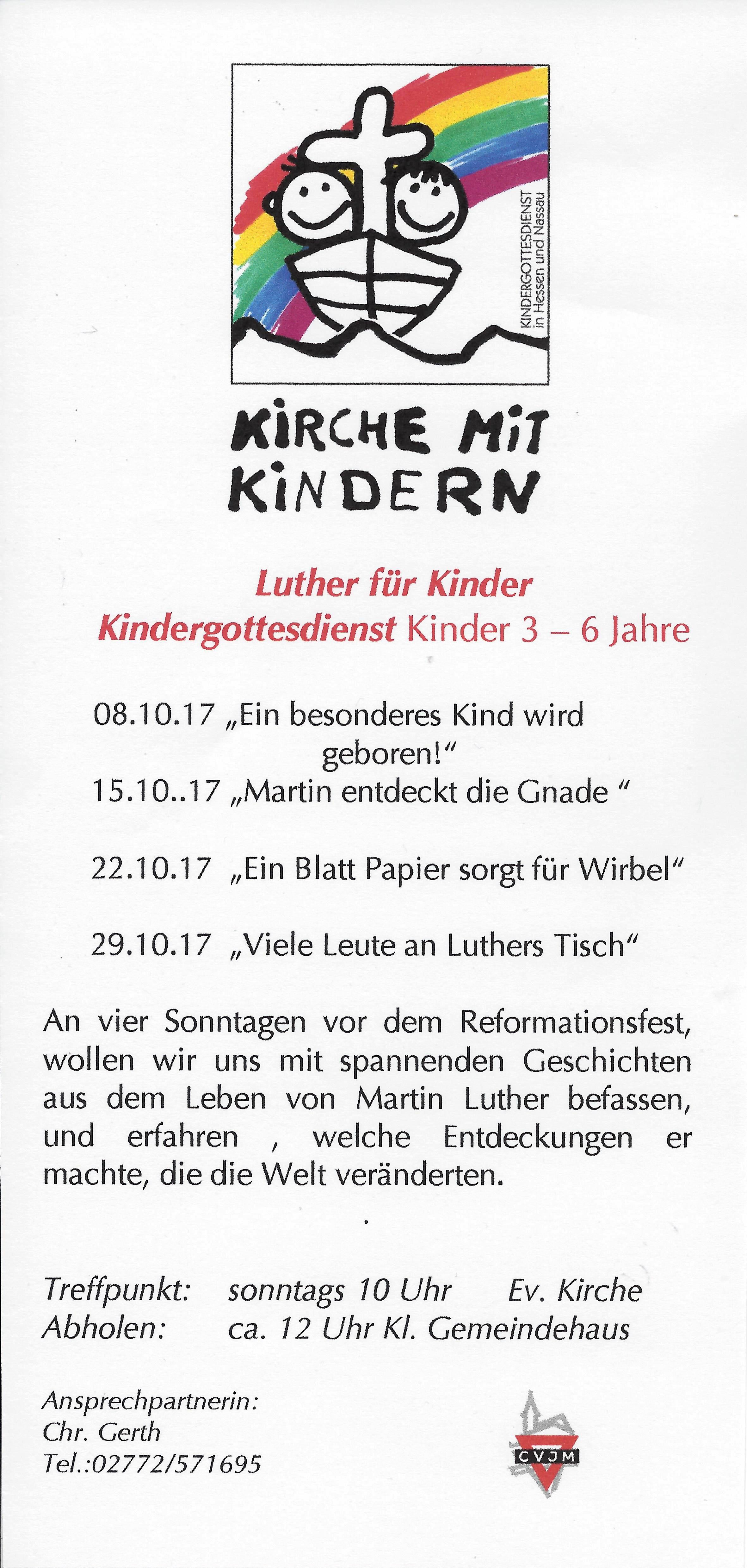 evangelische kirchengemeinde sinn - Martin Luther Lebenslauf